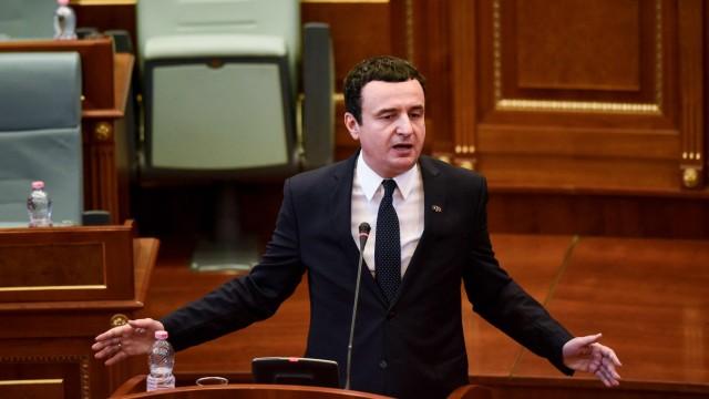 Kosovo: Er hatte Verbündete aus Deutschland und Frankreich und Gegner aus dem eigenen Land und den USA: Der kosovarische Premier Albin Kurti.