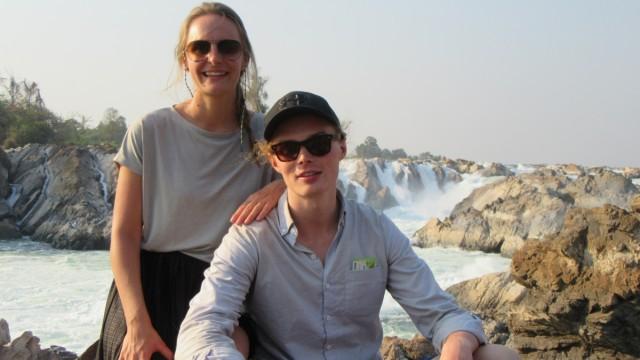 die Langzeitreisenden Gianna Banke und Quirin Koch in Laos. Credit: privat.