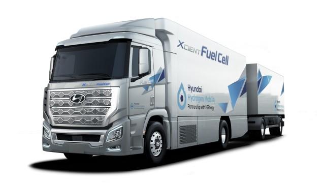Hyundai H2 Xcient Lkw mit Brennstoffzellenantrieb, Copyright Hyundai, Online-Rechte frei
