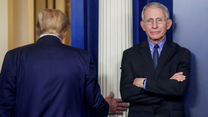 U.S. President Trump leads daily coronavirus response briefing at the White House in Washington