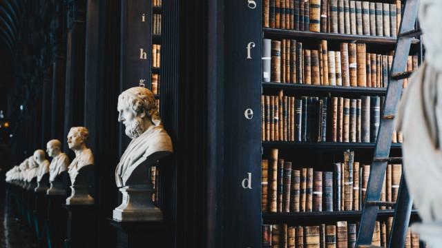 So still und friedlich sieht es in der Bibliothek aus.