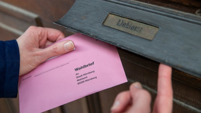 Kommunalwahl Bayern - Briefwahlunterlagen zur Stichwahl