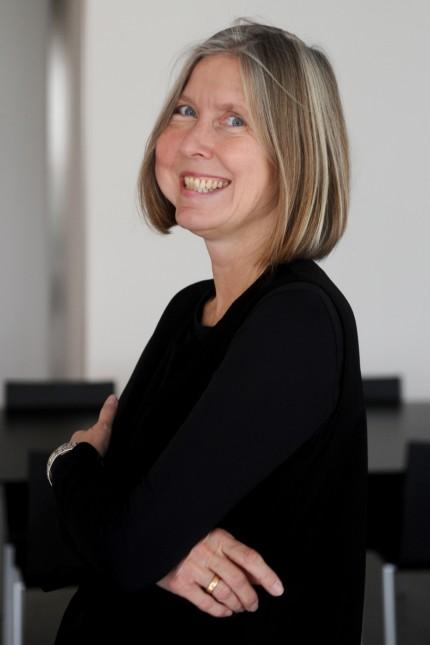 Angelika Nollert in ihrem Büro in der Pinakothek der Moderne in München, 2019
