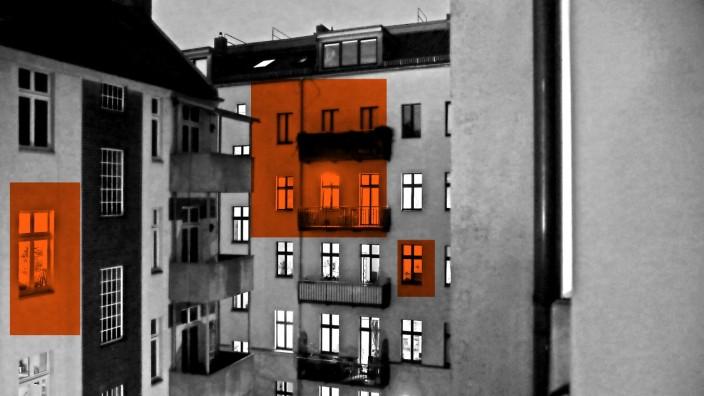 20.03.2020, Berlin - Deutschland. Im Prenzlauer Berg sind die Leute wegen der Corona-Krise zu Hause statt auf Parties z