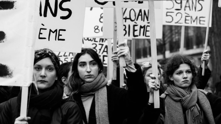 Proteste gegen Femizide in Frankreich