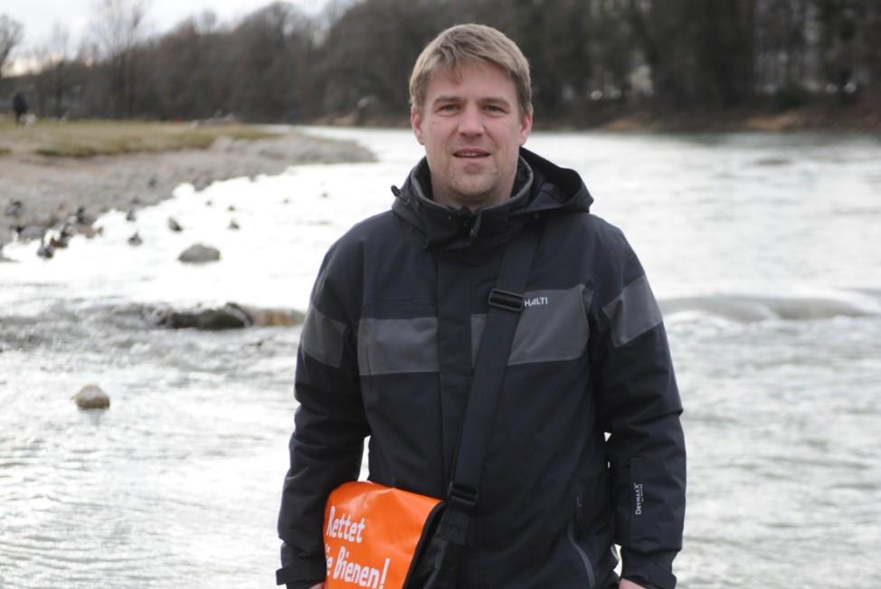 Tobias Ruff an der Isar in München, 2020