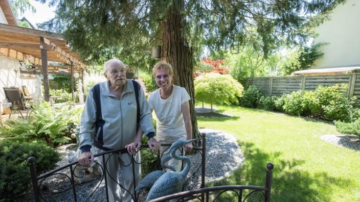 Grünwald, Tag der offenen Gartentür, der Garten von Rolf Wanninger, 98, und Luise Piltz,