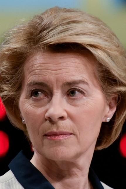 FILE PHOTO: EU Commission President Ursula von der Leyen presents the EU executive's economic response to the coronavirus epidemic, in Brussels