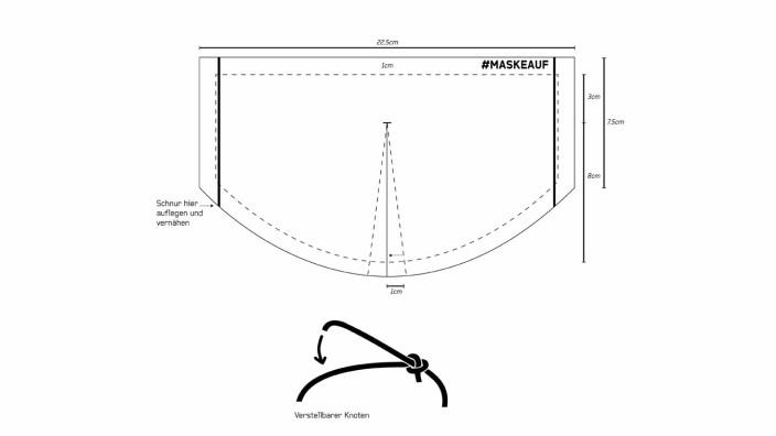 Maske nähen: Schnittmuster für einen Mundschutz