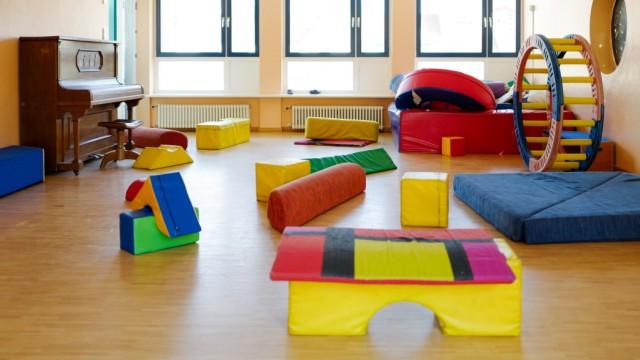 Wegen Corana-Virus geschlossener Kindergarten in München, 2020