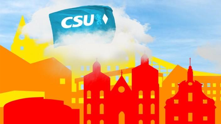 Bayern Ingolstadt CSU über Wolken