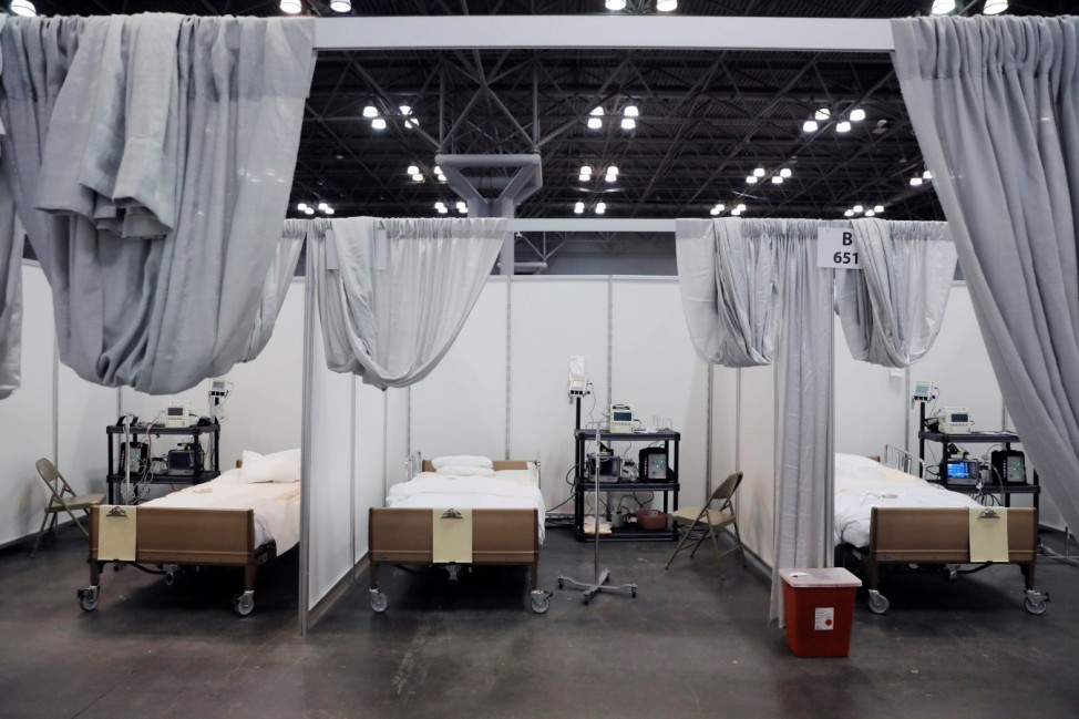 Phase 2 of the Javits New York Medical Station at the Jacob K. Javits Convention Center during the coronavirus disease (COVID-19) outbreak in Manhattan, New York City