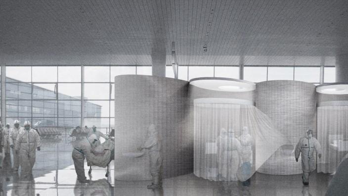 BER soll Corona-Krankenhaus werden Visualisierung