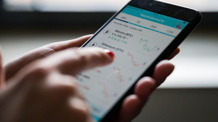 Kryptowährungshandel-App