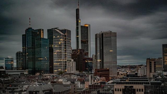 Frankfurt/Main; Skyline, Panorama Frankfurt / Main; Symbolbild, Symbolfoto November 2019 Frankfurt *** Frankfurt Main sk