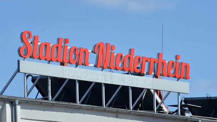 Leuchtreklame Stadion Niederrhein, Coronaauswirkungen in NRW, Oberhausen, 21.03.2020, Oberhausen Nordrhein-Westfalen Deu