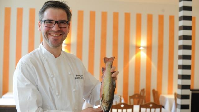 Manuel Reheis im Restaurant Broeding in München, 2019