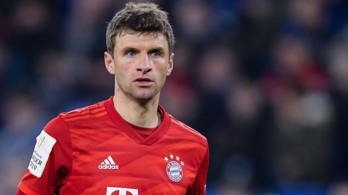Thomas Muller of FC Bayern Munich during the German DFB Pokal quarter final match between FC Schalke 04 and Bayern Munic; Müller