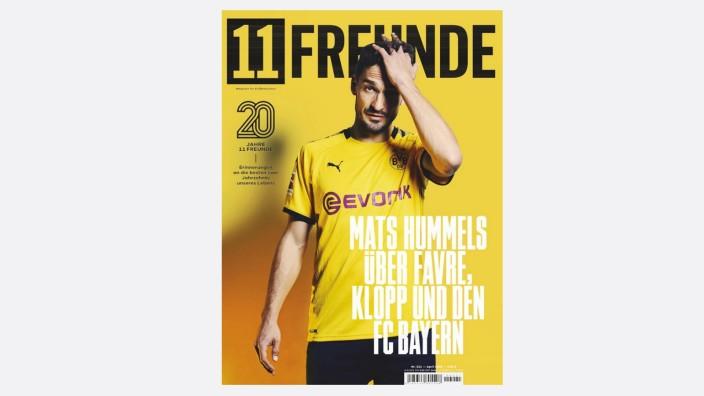 """Fußballmagazin 11 Freunde: Das Cover von """"11 Freunde"""" vom April 2020."""