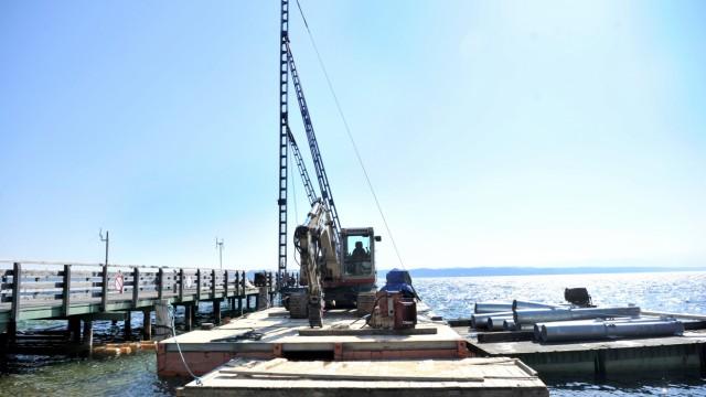 Tutzing:  Erneuerung des Dampferstegs