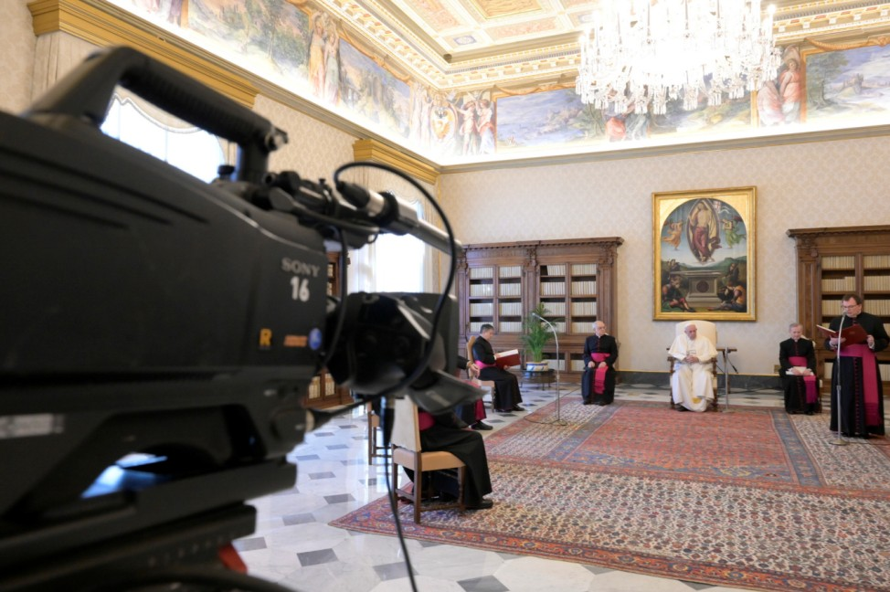 Pope Francis holds weekly general audience virtually due to coronavirus outbreak