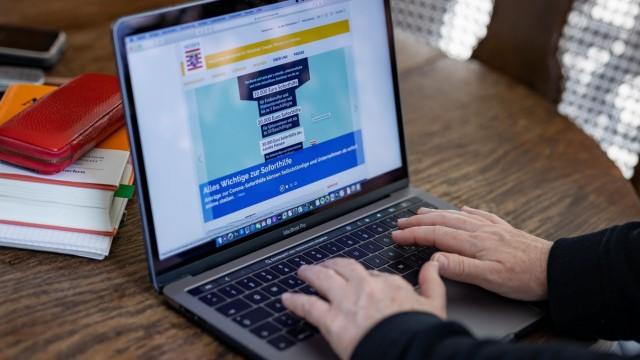 Frankfurt am Main, HomeOffice, 31.03.2020, Corona-Soforthilfe-Antrag Online stellen, Bild: Seit dem 30.03.2020 kann man