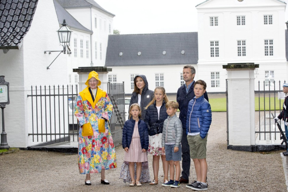 16 07 2017 Graasten Queen Margrethe and Princess Mary and Prince Frederik and Prince Christian and P