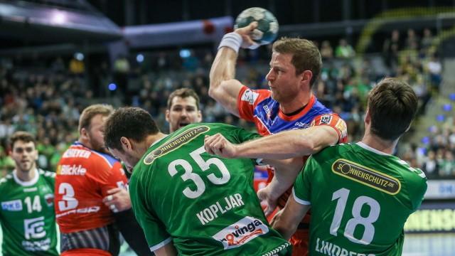 02.02.2020, Handball, 1.Bundesliga, 21. Spieltag, Füchse Berlin - HBW Balingen-Weilstetten, Max-Schmeling-Halle. Martin