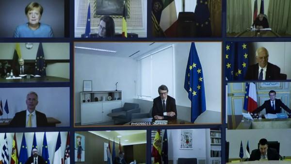 Videokonferenz der EU-Staats- und Regierungschefs