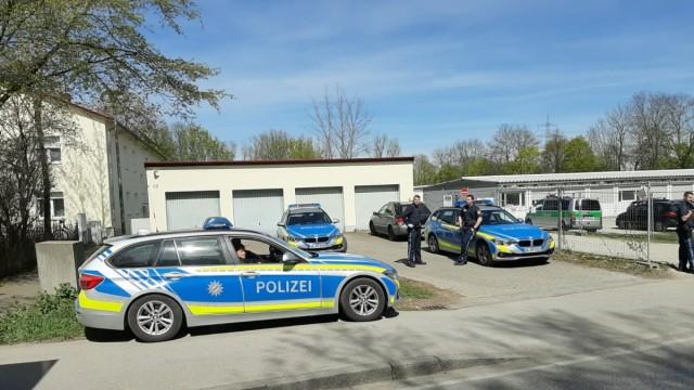 Grub Polizeieinsatz Asylbewerberheim Poing