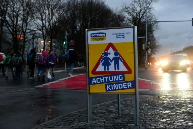 Plakataktion zur Schulwegsicherheit in München, 2018