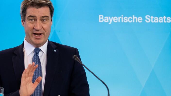 Coronavirus: Bayerns Ministerpräsident Markus Söder nach einer Kabinettssitzung