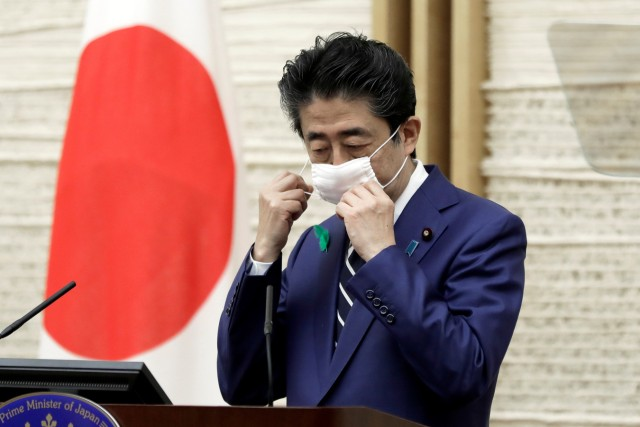 News conference of Japan's Prime Minister Shinzo Abe in Tokyo
