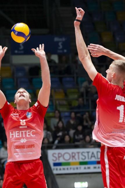 Deutschland - Frankfurt - 19.01.2020 / Volleyball - Hessen - 1. Bundesliga - Herren Saison 2019/2020 / United Volleys Fr; Volleyball Merten Krüger