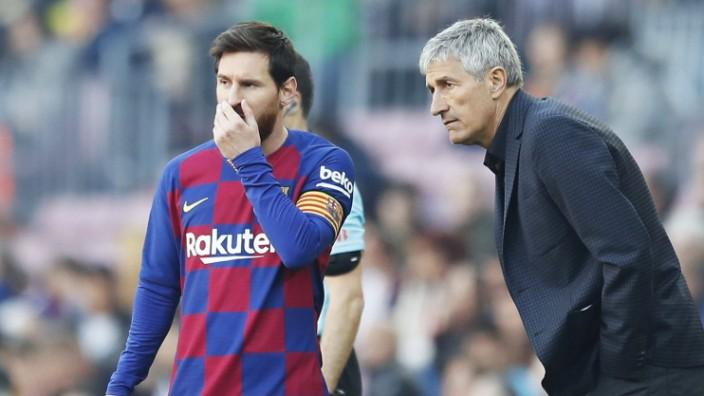 Lionel Messi, Quique Setien (Barcelona), FEBRUARY 22, 2020 - Football / Soccer : Spanish La Liga Santander match between