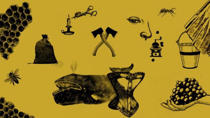 Vergessene Professionen: Illustration: Jessy Asmus