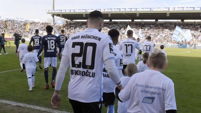 08.02.2020, Fussball 3. Bundesliga 2019/2020, 23.Spieltag, TSV 1860 München - SV Waldhof Mannheim, im Grünwalderstadion; 1860 Mannheim