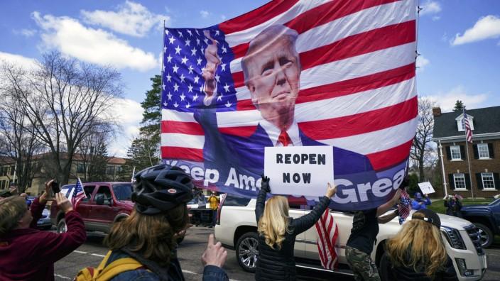 Trump lobt Corona-Demonstranten