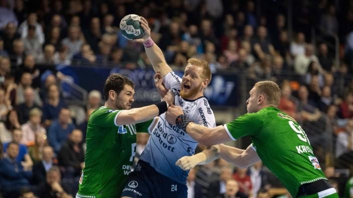 Handball Berlin 08.03.2020 DHB / 1. Bundesliga Saison 2019 / 2020 Füchse Berlin - SG Flensburg Handewitt Jim Gottfridsso; imago 0047015770