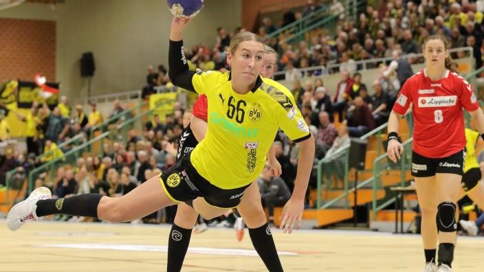 20018-BVB-Handballdamen vs HSG Blomberg-Lippe; HBF; 1.BL, Saison 2019/20;11.Spieltag; Sporthalle Wellinghofen, Im Lieber; Dortmund Handball