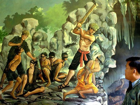 Gemälde zeigt Exekution durch Rote Khmer, dpa