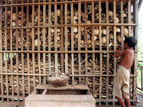 Gedenkstätte im Nordwesten Kambodschas, dpa