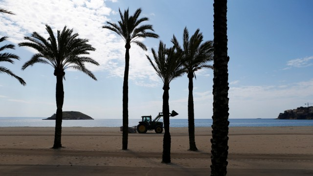 General view of the beach of Magaluf during the coronavirus disease (COVID-19) outbreak in Mallorca