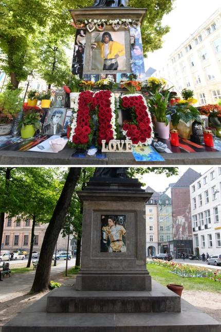 Gedenkstätte Michael Jackson aufgeräumt