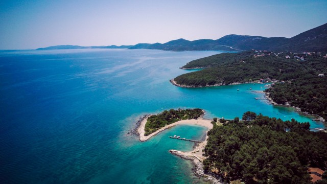 Croatia Cres Adriatic Sea Aerial view PUBLICATIONxINxGERxSUIxAUTxHUNxONLY DAWF00709