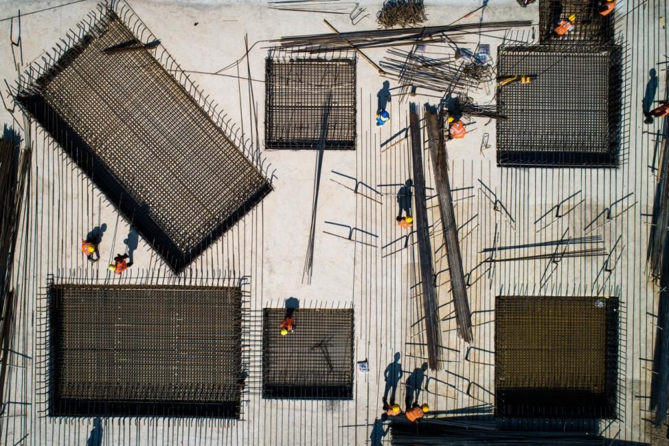 Bauarbeiten in Wuhan