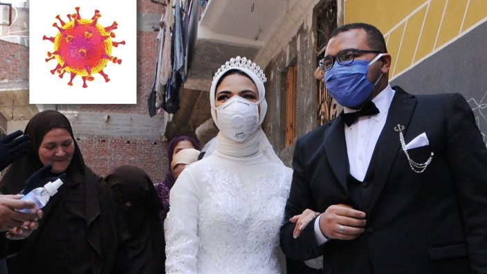 Wedding ceremony during the spread of the coronavirus disease (COVID-19) in Cairo