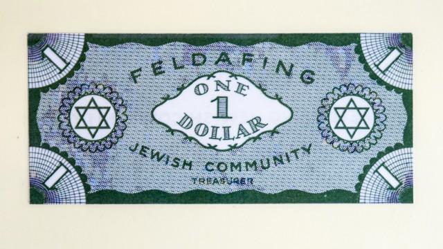 """Lager für Displaced Persons in Feldafing: Als Währung kursierte der """"Feldafinger Dollar."""