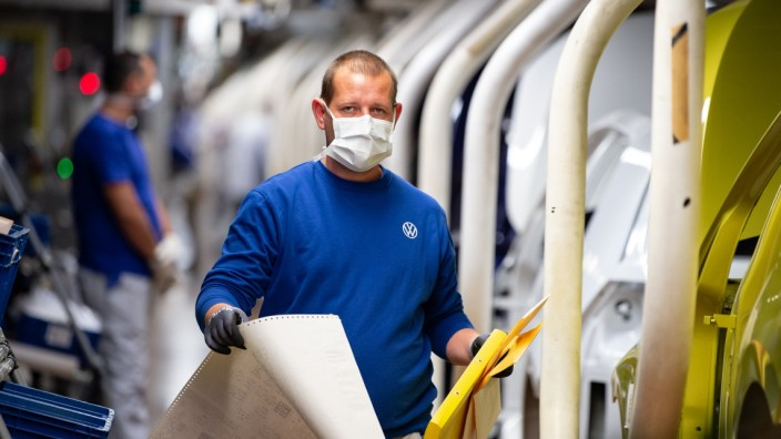 Corona-Krise: Produktion bei VW während der Corona-Pandemie