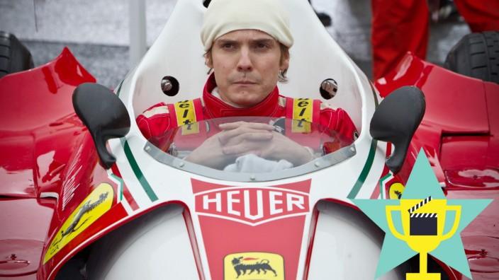 """SZ-Serie """"Die besten Sportfilme"""", Platz 21: Der amtierende Formel 1-Weltmeister Niki Lauda (Daniel Brühl) will seinen Titel gegen seinen Rivalen verteidigen."""
